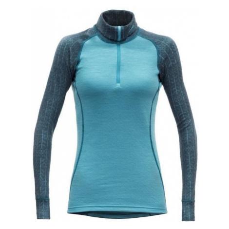 Devold DUO ACTIVE WOMAN ZIP NECK blue - Women's functional T-shirt
