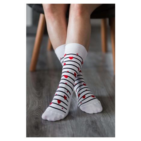 Barefoot Socks - Crew - Hearts 43-46