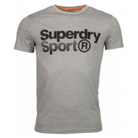 Superdry CORE SPORT GRAPHIC TEE grey - Men's T-Shirt