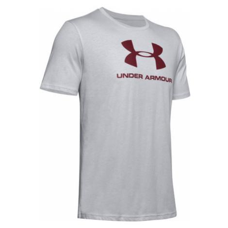 Under Armour SPORTSTYLE LOGO SS gray - Men's T-shirt