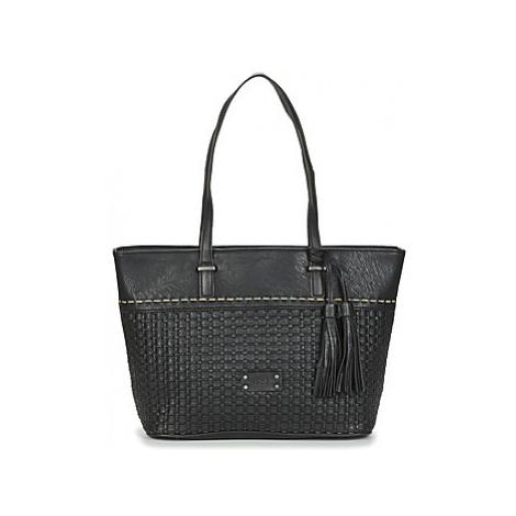 Fuchsia COLLINS women's Shopper bag in Black