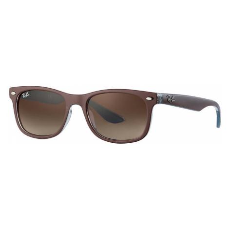 Ray-Ban New wayfarer junior Unisex Sunglasses Lenses: Brown, Frame: Brown - RJ9052S 703513 47-15