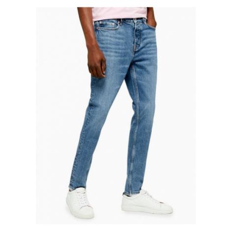 Mens Navy Indigo Authentic Stretch Skinny Jeans, Navy Topman