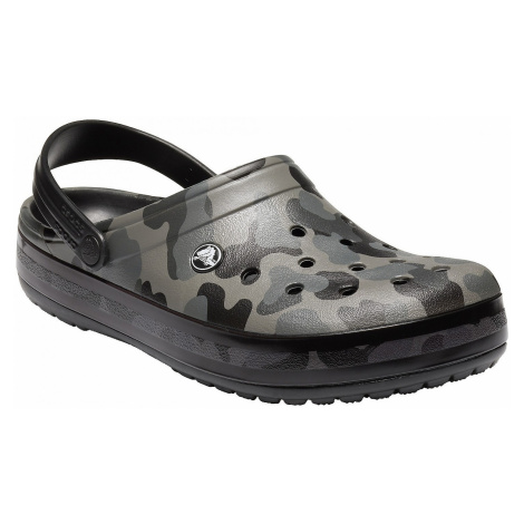 shoes Crocs Crocband Seasonal Graphic Clog - Slate Gray/Black - women´s