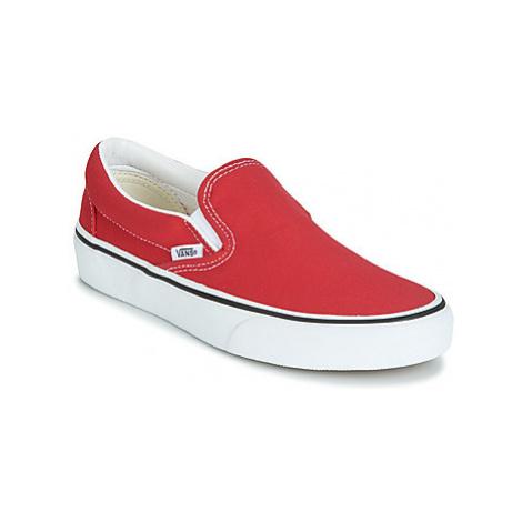 Vans CLASSIC SLIP-ON women's Slip-ons (Shoes) in Red