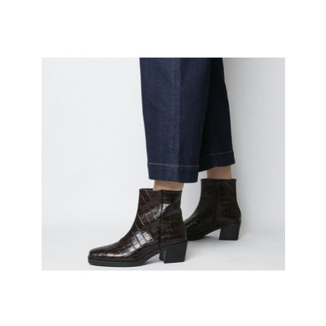Vagabond Simone Ankle Boot BROWN EMBOSSED