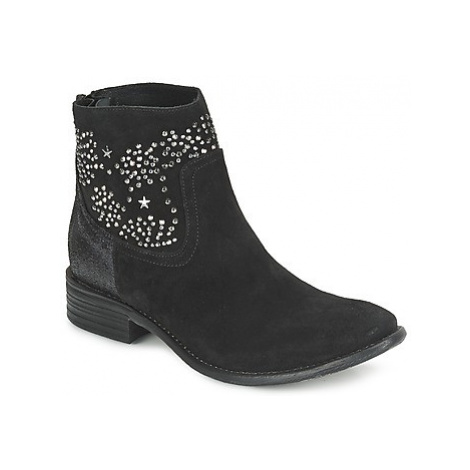 Meline VELOURS STARTER women's Low Ankle Boots in Black
