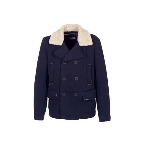 Blue men's coats, parkas and trench coats