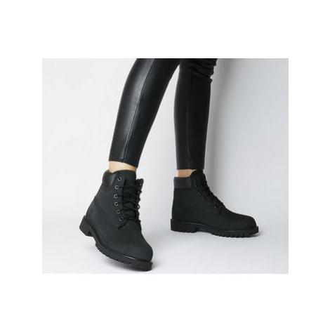 Timberland Juniors 6 Inch Premium Waterproof Boots BLACK NUBUCK