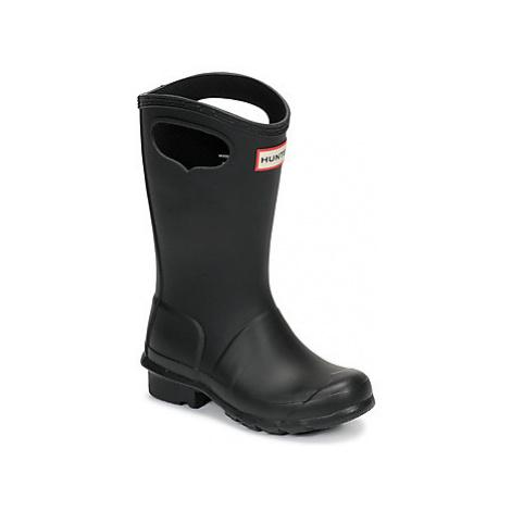 Hunter KIDS ORIGINAL PULL ON girls's Children's Wellington Boots in Black