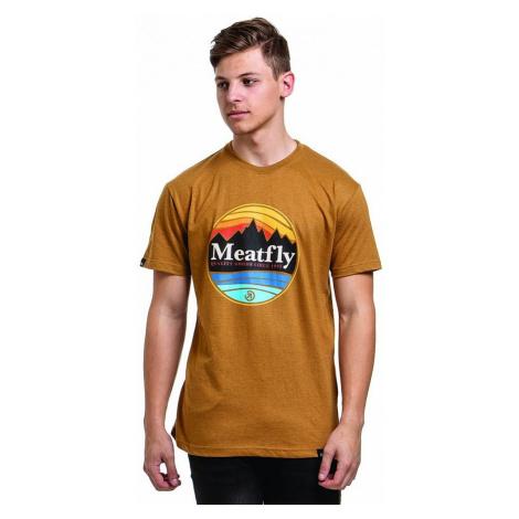 T-Shirt Meatfly Brisk - D/Heather Mustard - men´s