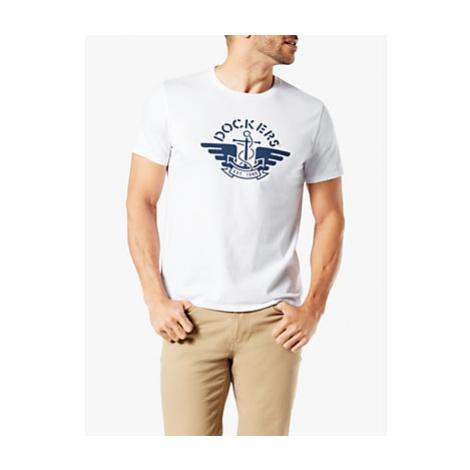 Dockers Short Sleeve Logo T-Shirt, Paper White
