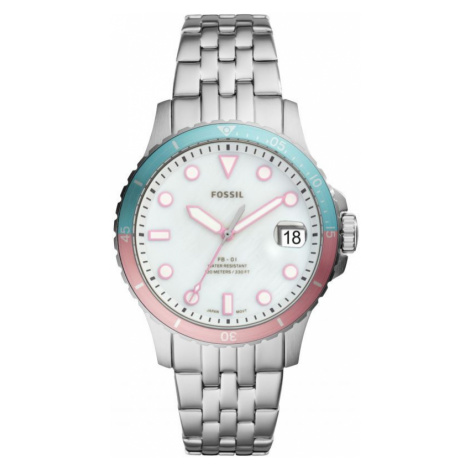 Ladies Fossil FB-01 Silver Watch