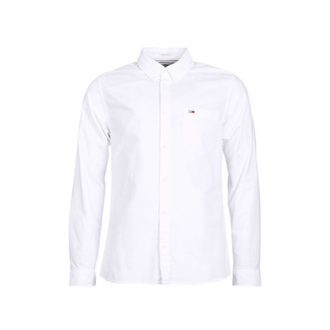 Tommy Jeans TJM CLASSICS OXF men's Long sleeved Shirt in White Tommy Hilfiger