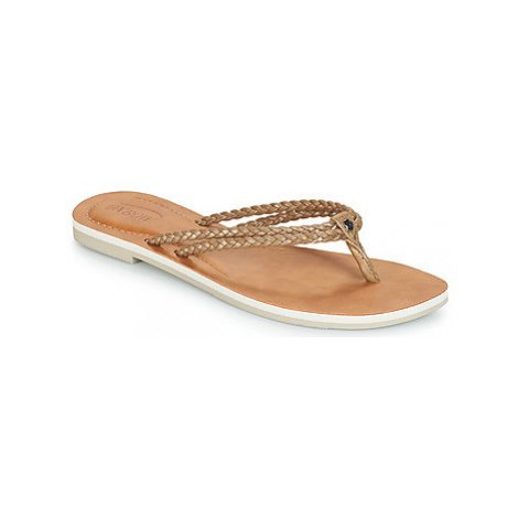 Oxbow VILLA women's Flip flops / Sandals (Shoes) in Gold