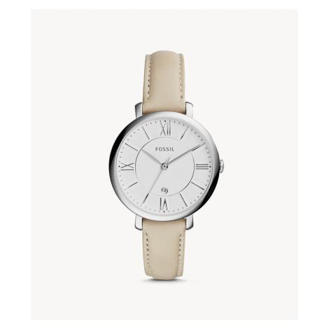 Fossil Women's Jacqueline Beige Leather Watch