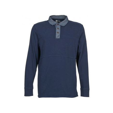Timberland LS BLACKSTONE RIVER KNIT men's Polo shirt in Blue