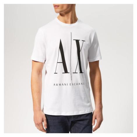 Armani Exchange Men's Oversized Print T-Shirt - White - White
