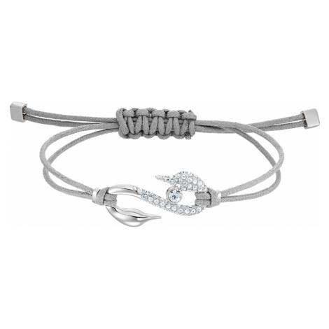 Swarovski Power Collection Hook Bracelet, Grey, Rhodium plated