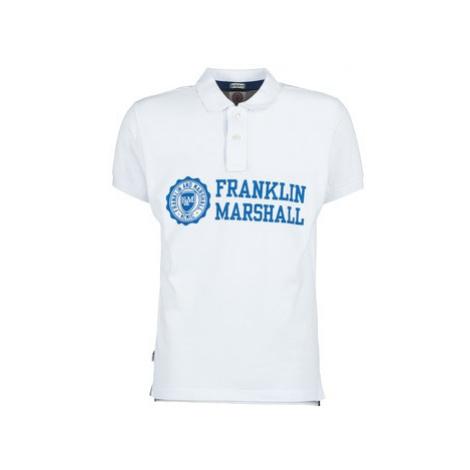 Franklin Marshall AYLEN men's Polo shirt in White Franklin & Marshall