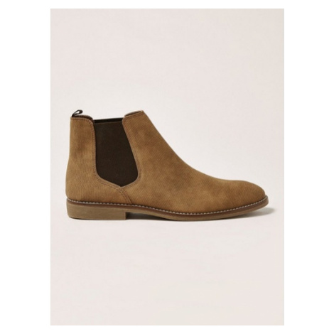 Mens Brown Tan Faux Suede 'Spark' Chelsea Boots, Brown Topman