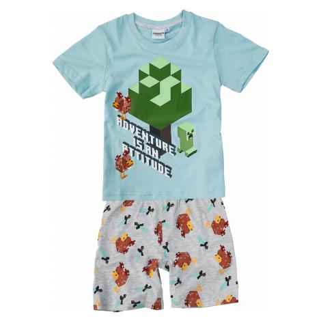Minecraft - - Children's Pyjamas - blue/grey mix