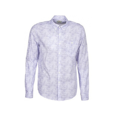 Barbour Catch men's Long sleeved Shirt in Blue