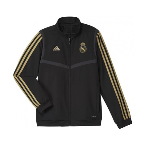 Real Madrid Presentation Jacket - Black - Kids Adidas