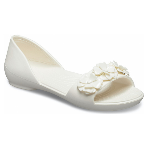 shoes Crocs Lina Flower Dorsay - Oyster/Oyster - women´s