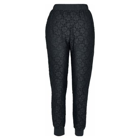 Urban Classics - Ladies Lace Jersey Jog Pants - Trousers - black