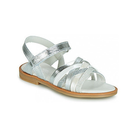 Citrouille et Compagnie JIRAFOU girls's Children's Sandals in Silver