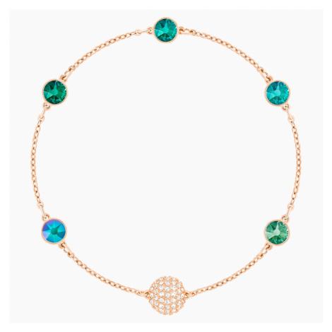 Swarovski Remix Collection Green Strand, Multi-coloured, Rose-gold tone plated