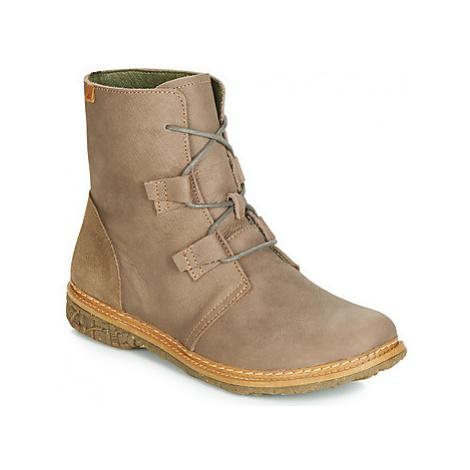 El Naturalista ANGKOR women's Mid Boots in Grey