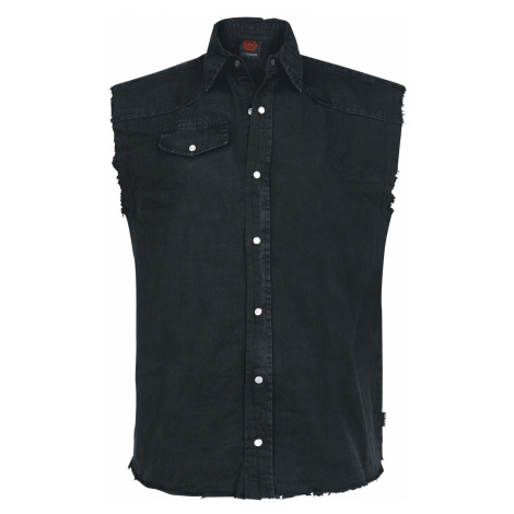 Spiral - Solid Black - Sleeveless workershirt - black