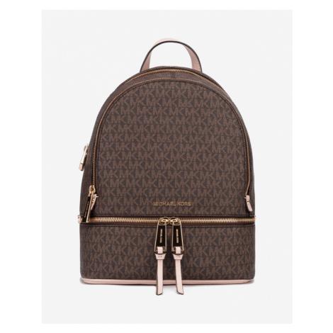 Michael Kors Rhea Medium Logo Backpack Brown