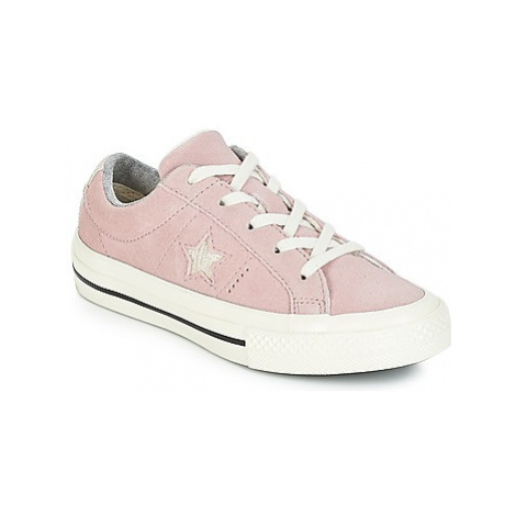 Converse ONE STAR OX girls's Children's Shoes (Trainers) in Pink