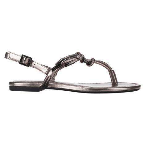 Armani Exchange Sandals Silver