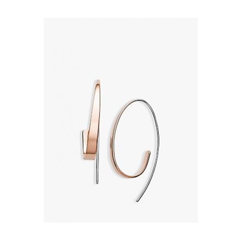 Skagen Swirl Drop Earrings, Rose Gold/Silver SKJ1213998