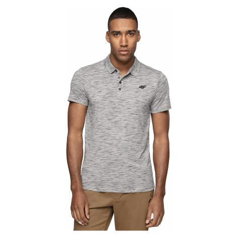 T-Shirt 4F H4Z19-TSM010 Polo - 24M/Middle Gray Melange - men´s