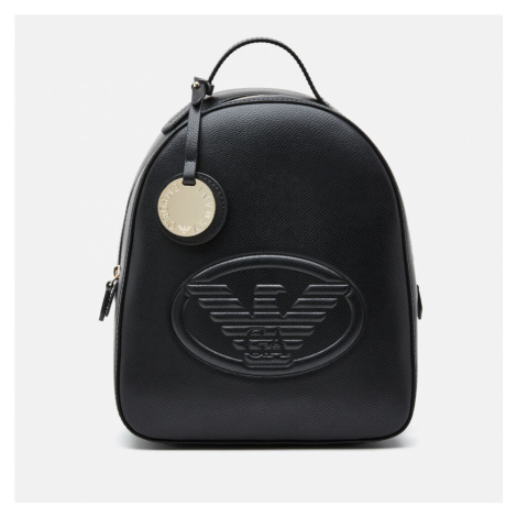 Emporio Armani Women's Quilted Logo Backpack - Black