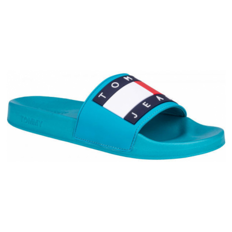 Tommy Hilfiger JEANS FLAG POOL SLIDE blue - Men's slippers