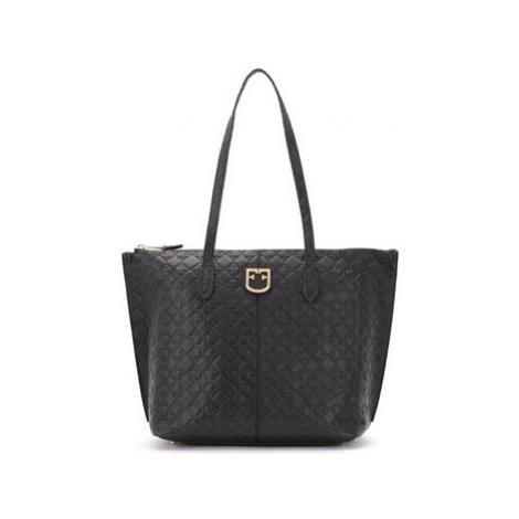 Furla Luce shoulder bag made of black textured leather women's Shoulder Bag in Black