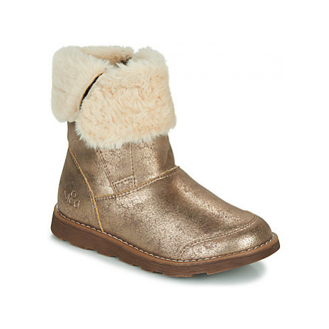 Mod'8 ALOUNA girls's Children's Mid Boots in Gold