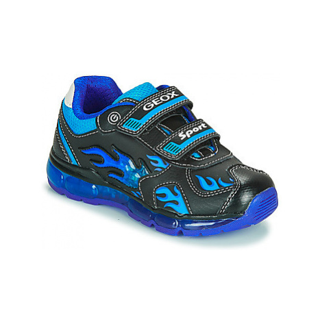 Geox J ANDROID BOY boys's Children's Shoes (Trainers) in Black