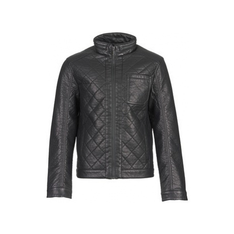 Esprit AMIRORO men's Leather jacket in Black