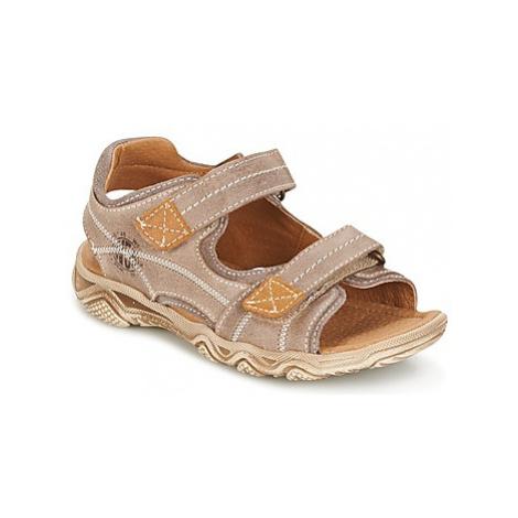 Citrouille et Compagnie RAMTIGA boys's Children's Sandals in Beige