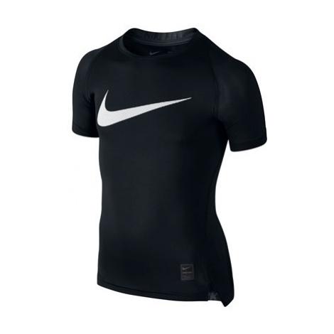Nike Pro Combat Baselayer Top - Black/White - Kids