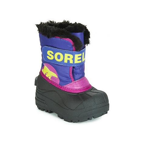 Sorel TODDLER SNOW COMMANDER girls's Children's Snow boots in Blue