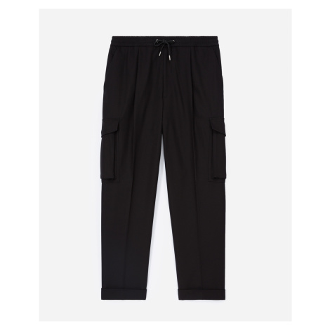 The Kooples - Cotton straight black trousers, cargo pockets - MEN