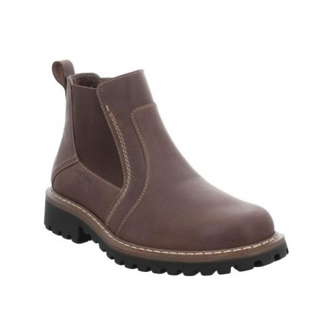 Josef Seibel Chance 43 Mens Waxed Leather Zip Chelsea Ankle Boots men's Mid Boots in Brown